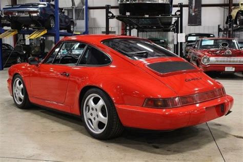 1991 porsche 911 carrera 4 83839 miles guard s red coupe 3 6l v6 5 speed manual for sale