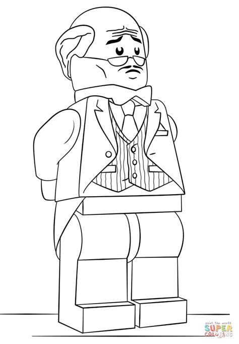 lego batman coloring pages lego alfred pennyworth coloring page free printable