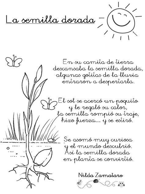 imagenes sensoriales poesia infantil poema la semilla dorada de nilda zamataro descarga el