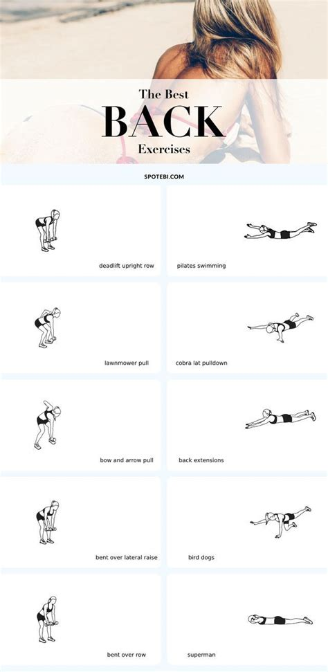 top back ti top 10 back exercises for posture tone strength the