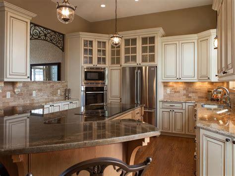 traditional ivory glazed kitchen with world style hgtv