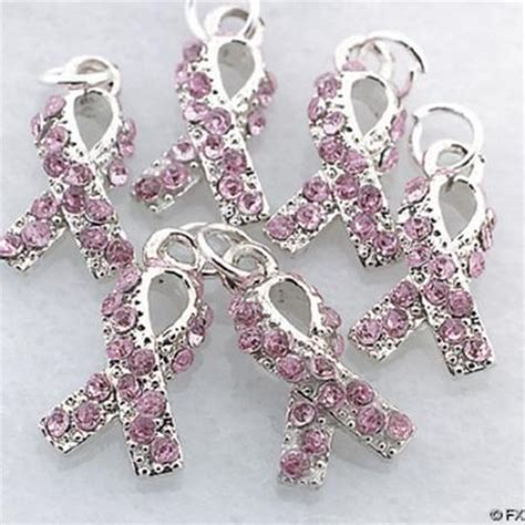 set of 36 pink breast cancer awareness charms wholesale ebay
