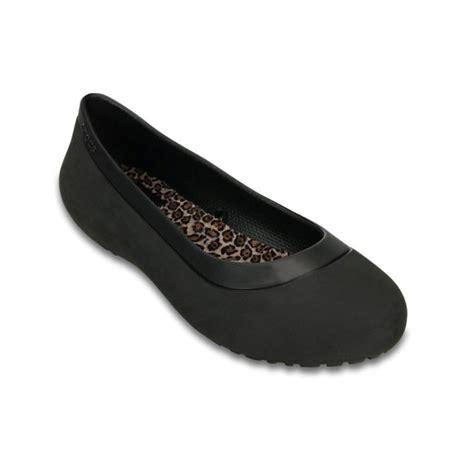 black womens flat shoes crocs mammoth leopard lined black black ux7 womens