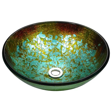 Glass Ls by Anzzi Stellar Series Deco Glass Vessel Sink In Glacial