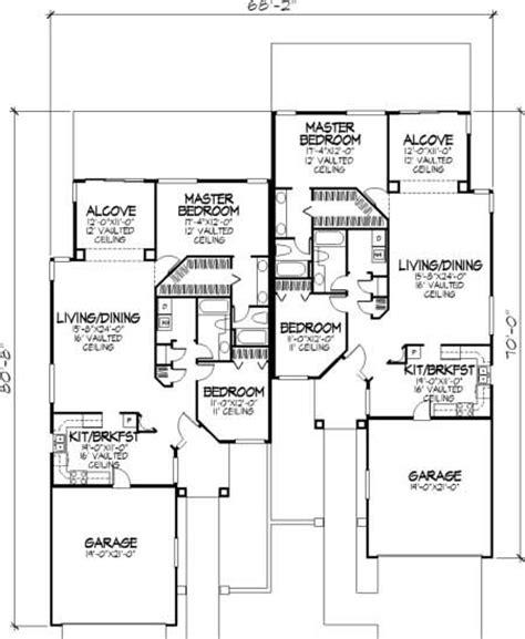 Multi Unit Floor Plans multi unit house plans home design ls b 92044