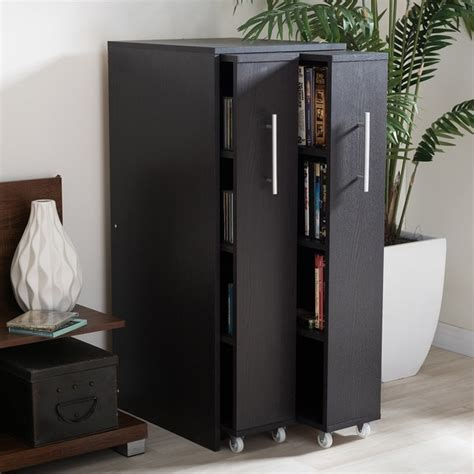 baxton studio lindo bookcase single pull out shelving cabinet bookshelves bookcases a collection by dorothy favorave
