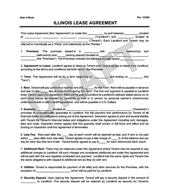 Illinois Residential Lease Rental Agreement Create Download Illinois Lease Agreement Template