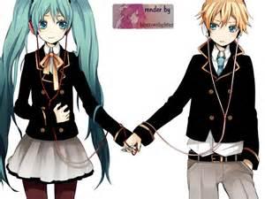 www len de hatsune miku y kagamine len 2 by heartswithglitter on
