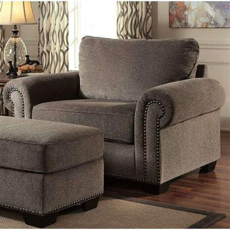 Oversized Accent Chair Emelen Oversized Fabric Accent Chair In Alloy 4560023