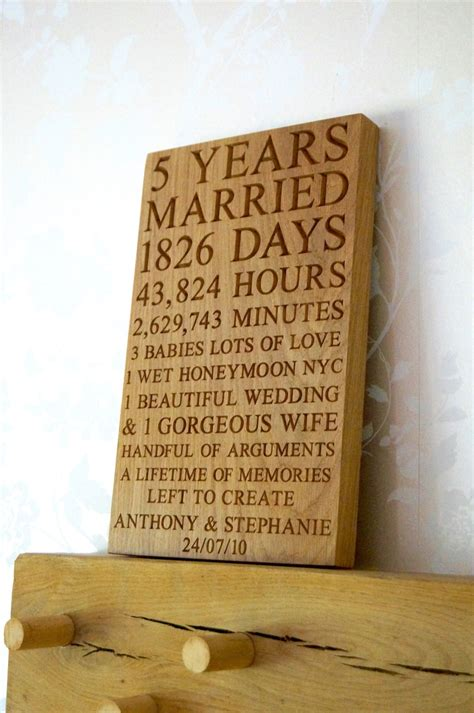 Wedding Anniversary Engraving Ideas by 5th Wedding Anniversary Gift Ideas For Him Make Me