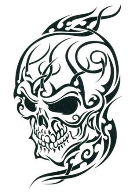 skull with tribal tattoo 25 cool tribal skull tattoos only tribal