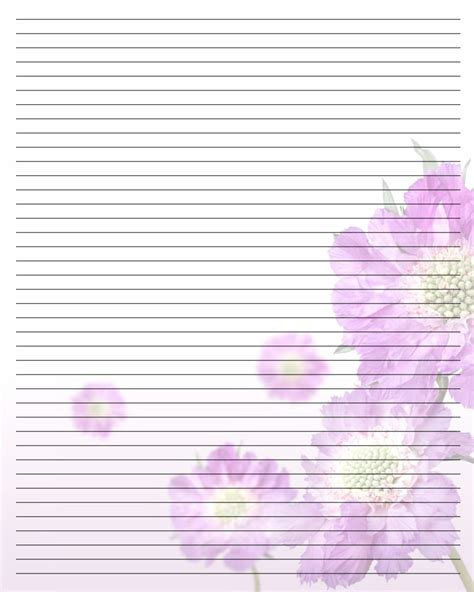 printable lined thank you paper 5 best images of pretty printable lined paper pretty