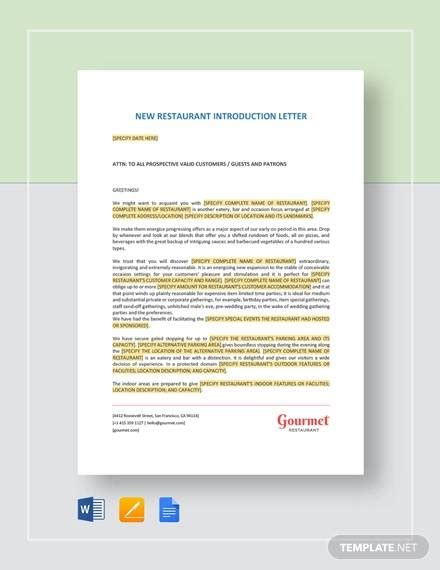 sample business introduction letter templates