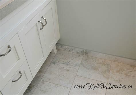 tile baseboard in bathroom 12 x 24 porcelain tiles white