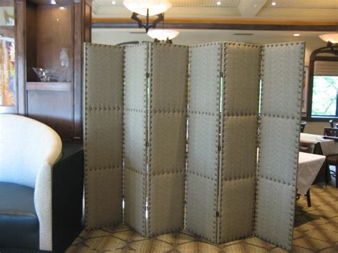 Upholstered Room Divider Folding Upholstered Screen Contemporary Screens And Room Dividers Other Metro By