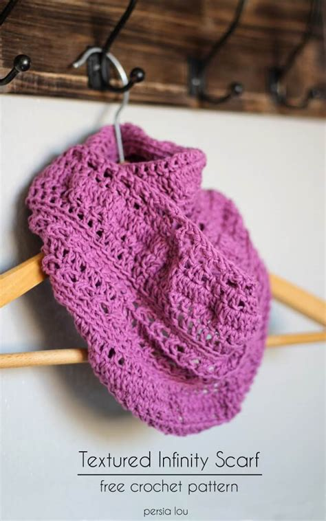 youtube id pattern textured infinity scarf pattern persia lou