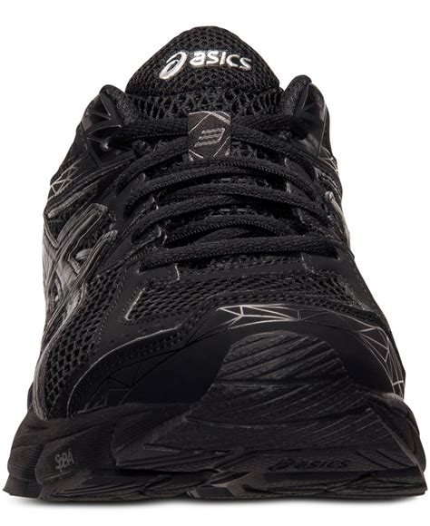 all black asics running shoes lyst asics s gt 1000 3 running sneakers from