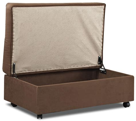 Oversized Storage Ottoman On Wheel Stylish And Oversized Ottoman With Storage