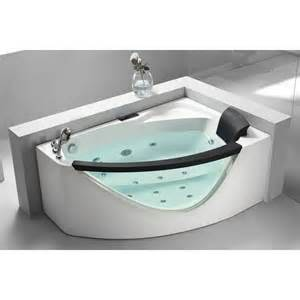 eago am198 5 ft rounded clear modern corner whirlpool bath
