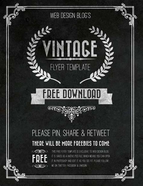 download the free vintage chalkboard flyer psd template
