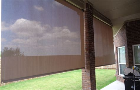 roll down awnings shade works of texas retractable shades and awnings