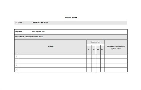 Work Plan Template 15 Free Word Pdf Documents Download Free Premium Templates Work Plan Template Free