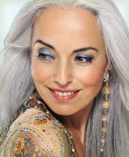 Greybeauty Toscabeauty 22 best images about makeup for silver grey hair on