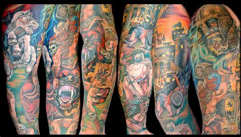 cartoon tattoo sleeve the map tattoos viking sleeve