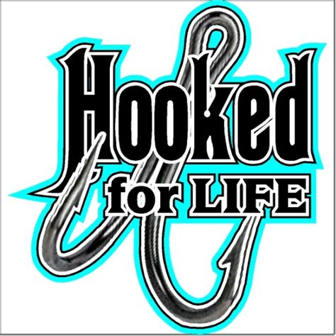 Entryway Definition Hooked For Life Fishing Car Decal