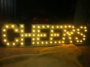 Cheers 3d Lighted Marquee Sign 8 5 Quot X 32 Quot