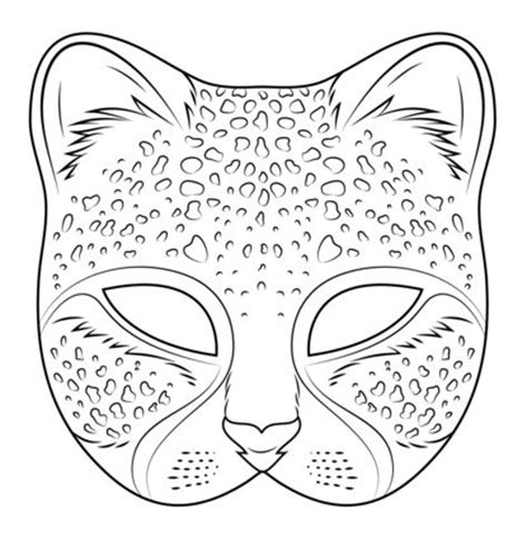 coloring pages for adults masks cheetah mask adult colouring cats dogs zentangles