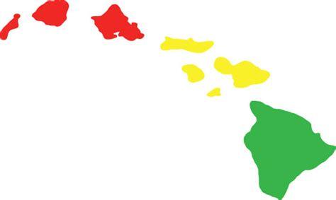 hawaiian island colors hawaiian island chain vinyl decal sticker rasta colors