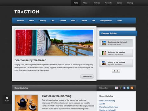 template free themes traction theme themes for blogs at