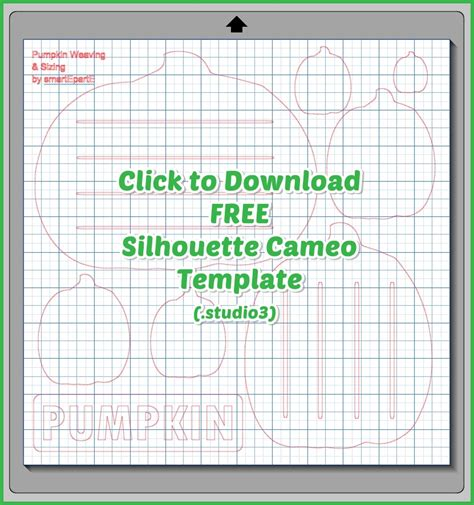 free card templates for silhouette cameo free pumpkin silhouette cameo template