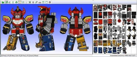 Megazord Papercraft - papermau power rangers megazord mighty morphin paper