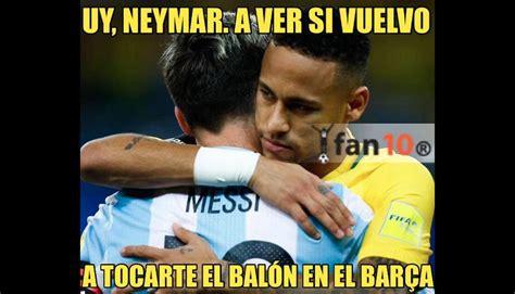 imagenes memes neymar brasil vs argentina memes se burlan de lionel messi y