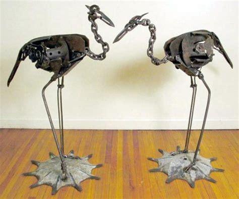 metal craft projects scrap metal herons the of welding