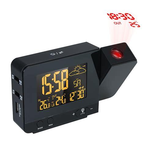 aliexpress buy lcd digital projection alarm clock radio controll wireless weather station