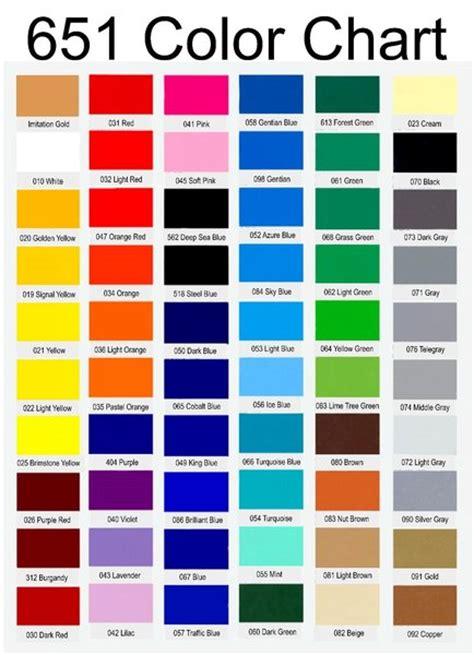 oracal 651 color chart oracal 651 glossy vinyl my vinyl