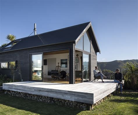 Small Homes New Zealand A 45 Square Metre Studio Designed For An Exposed