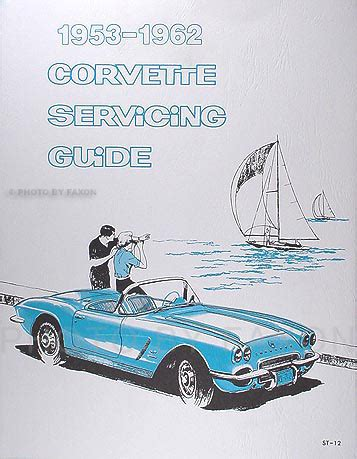car service manuals pdf 1962 chevrolet corvette seat position control 1953 1962 corvette reprint servicing guide repair shop manual supplement