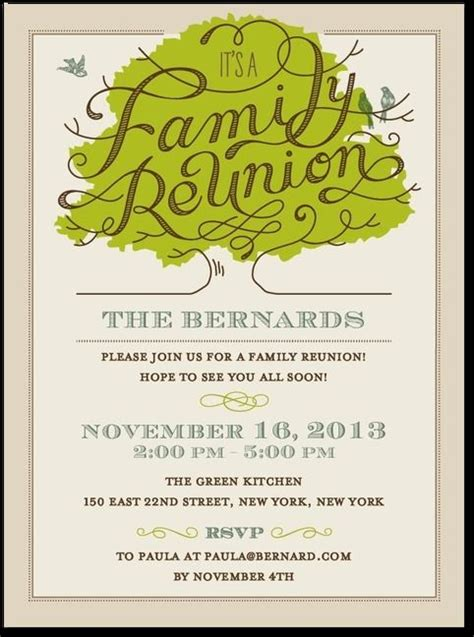 reunion invitation template 25 best ideas about family reunion invitations on