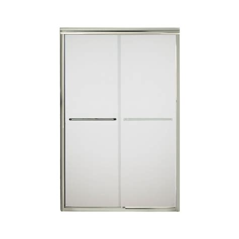 Sliding Glass Shower Doors Lowes Shop Sterling Finesse 42 625 In To 47 625 In W X 70 0625 In H Frameless Sliding Shower Door At