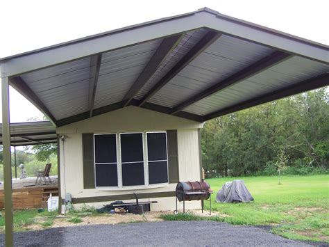mobile home window awnings mobile home metal roof awning carport vernia bestofhouse