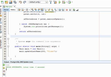 tutorial java postgresql how to update data in postgresql database using jdbc