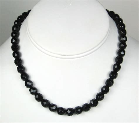 black beaded necklace black and white beaded necklace images