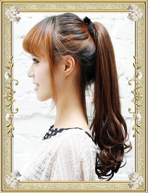 ponytail hairstyles wiki ponytail hairstyles with bangs hairstyles wiki