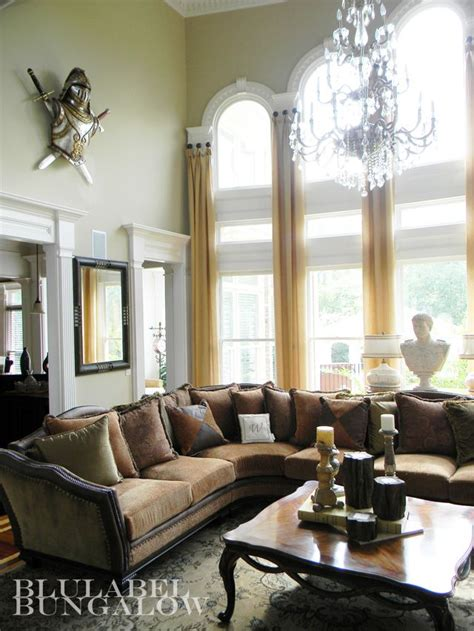 Ward Interiors by Two Story Window Treatments For Arched Windows