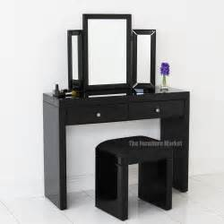 Glass Vanity Table With Mirror Venetian Black Glass Dressing Table Mirror