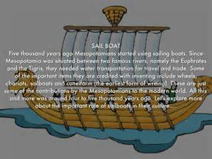 sailboats mesopotamia mesopotamia inventions by juniorhix